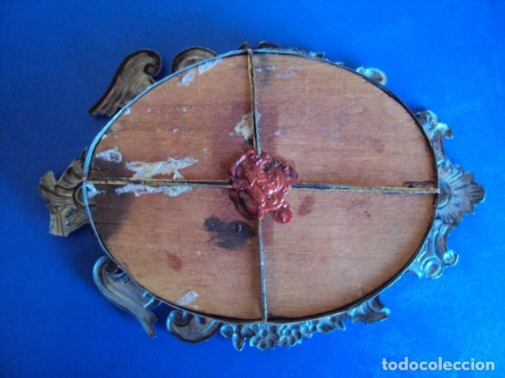 Antigüedades: (ANT-191106)ANTIGUO RELICARIO - REVERSO CON LACRE - Foto 8 - 182370436