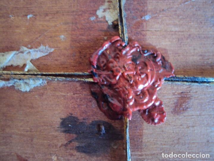 Antigüedades: (ANT-191106)ANTIGUO RELICARIO - REVERSO CON LACRE - Foto 9 - 182370436