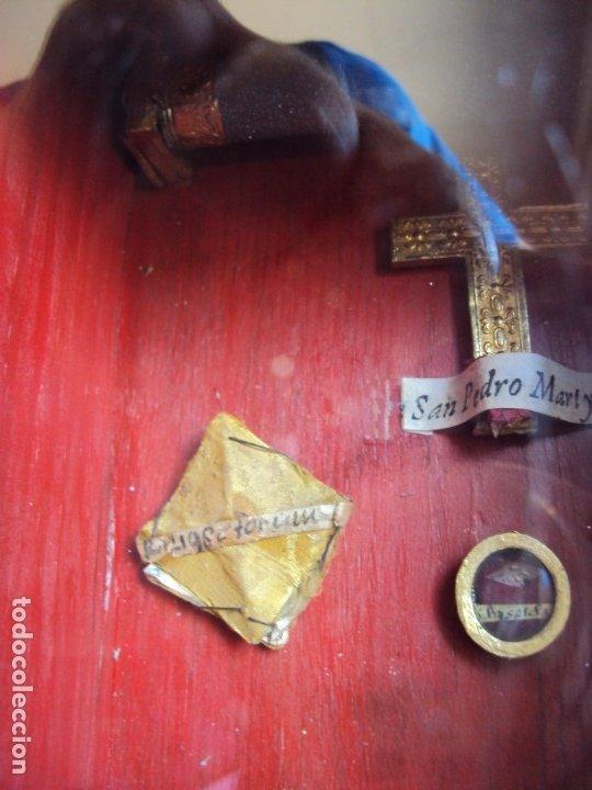 Antigüedades: (ANT-191108)ANTIGUA CAPILLA RELICARIO - CRISTO DE CERA Y RELIQUIAS - Foto 6 - 182371408