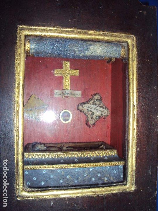 Antigüedades: (ANT-191108)ANTIGUA CAPILLA RELICARIO - CRISTO DE CERA Y RELIQUIAS - Foto 14 - 182371408