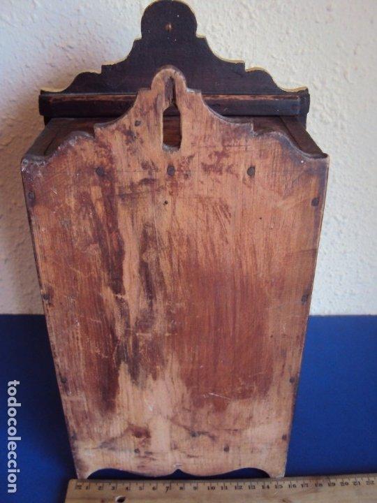 Antigüedades: (ANT-191108)ANTIGUA CAPILLA RELICARIO - CRISTO DE CERA Y RELIQUIAS - Foto 23 - 182371408
