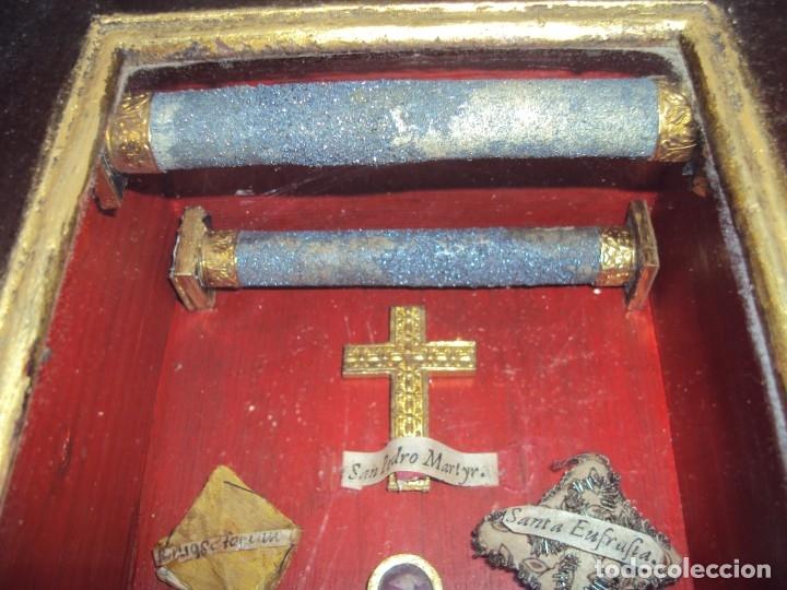 Antigüedades: (ANT-191108)ANTIGUA CAPILLA RELICARIO - CRISTO DE CERA Y RELIQUIAS - Foto 29 - 182371408