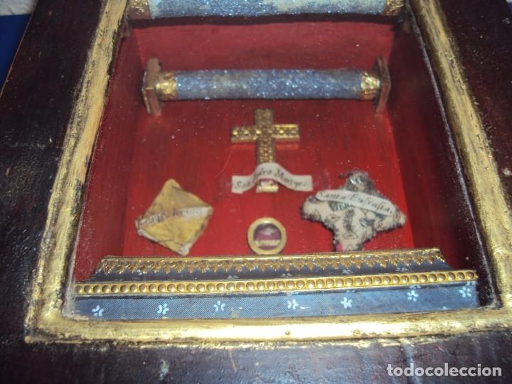 Antigüedades: (ANT-191108)ANTIGUA CAPILLA RELICARIO - CRISTO DE CERA Y RELIQUIAS - Foto 30 - 182371408