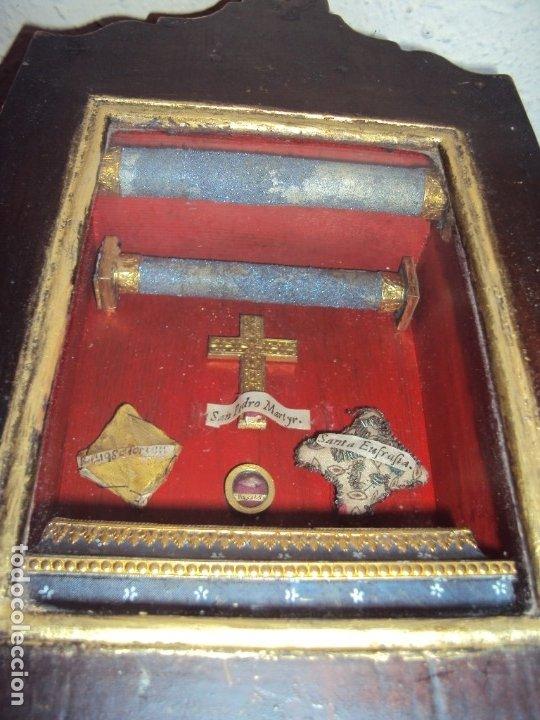 Antigüedades: (ANT-191108)ANTIGUA CAPILLA RELICARIO - CRISTO DE CERA Y RELIQUIAS - Foto 31 - 182371408