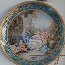 Antigüedades: GRAN PLATO DE PORCELANA DE MEINSSES. Lote 182375036