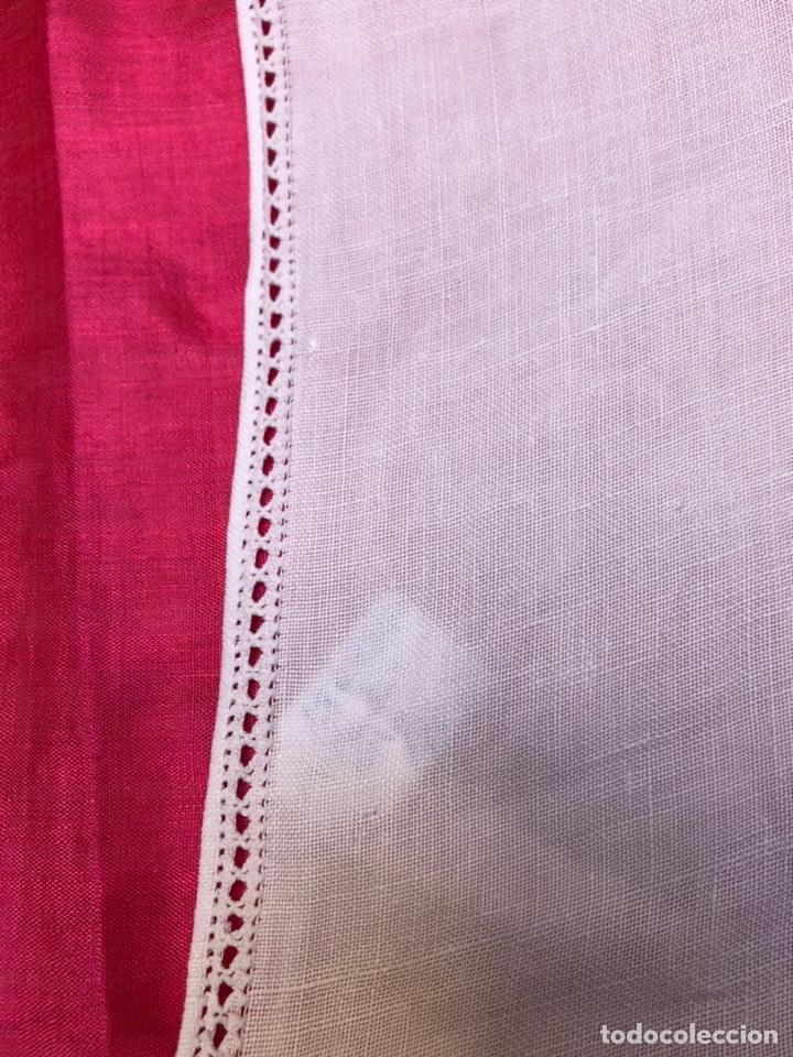 Antigüedades: Mantel manteleria hilo 180 x 240 cm bordado a mano - Foto 7 - 182375732