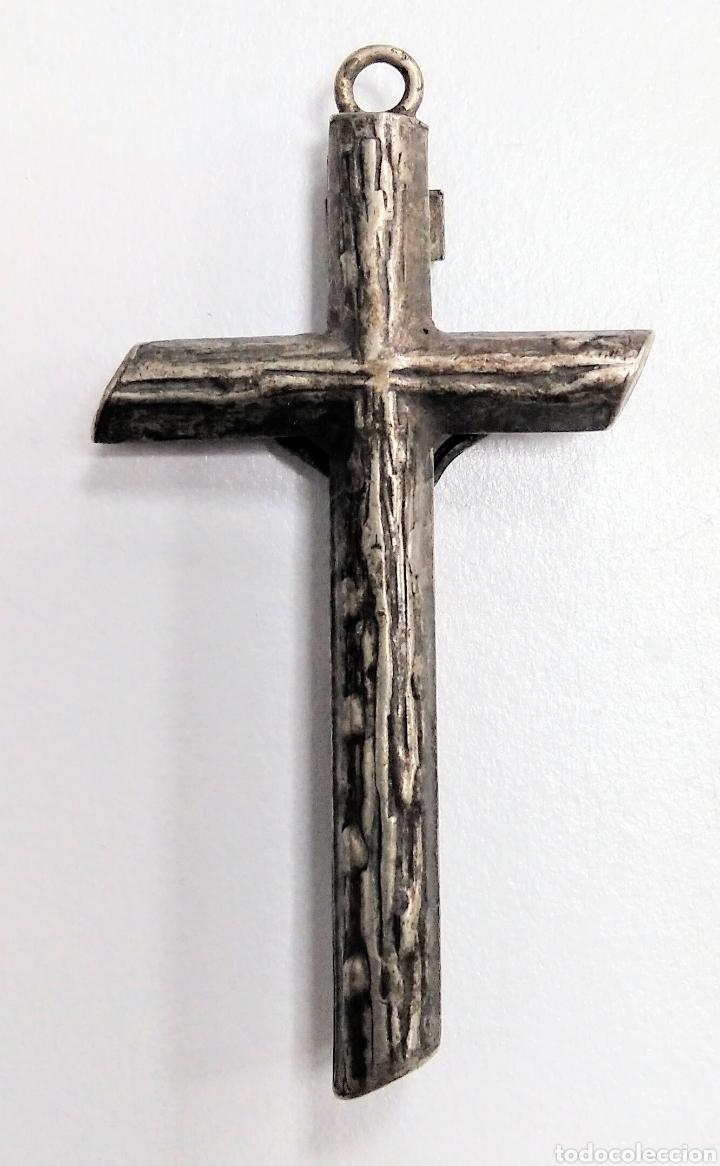 Antigüedades: Cruz medalla antigua en plata - AD25 - Foto 2 - 195372018