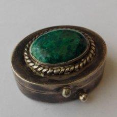 Antigüedades: PRECIOSA CAJITA DE PLATA MACIZA DE LEY CON MALAGUITA. Lote 182383851