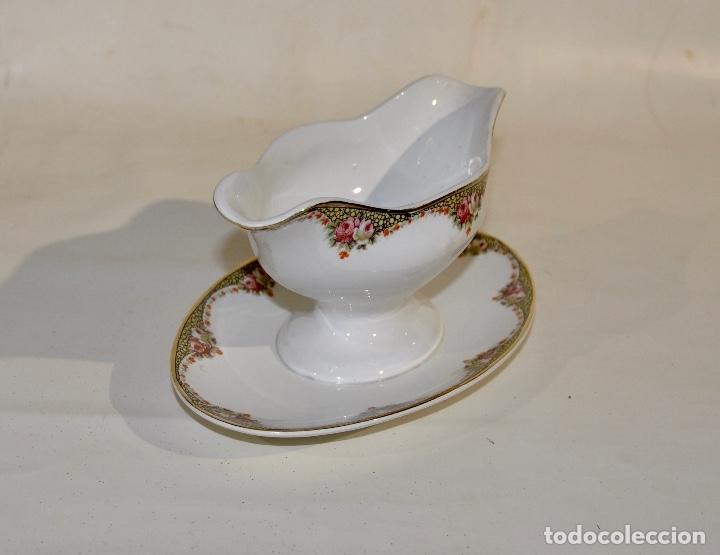 Antigüedades: Salsera Société Ceramique Holland - Foto 2 - 182392892