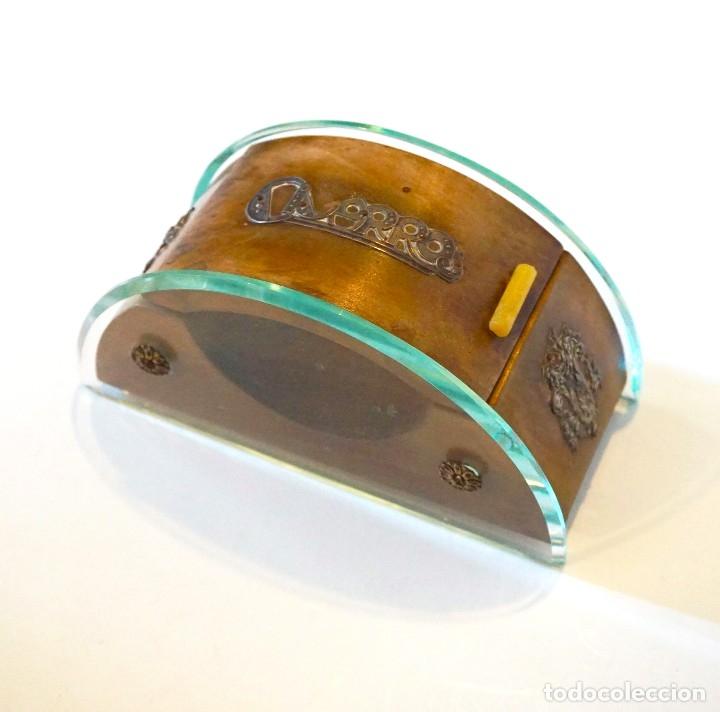 Antigüedades: cigarrera antigua art deco modernista caja cigarros - Foto 2 - 182404102