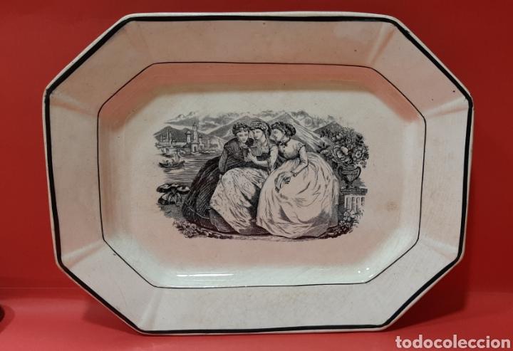 ANTIGUA Y RARA FUENTE OCHAVADA, LA AMISTAD, CARTAGENA, SELLO INCISO VALARINO Y SELLO TINTA. S. XIX. (Antigüedades - Porcelanas y Cerámicas - Cartagena)