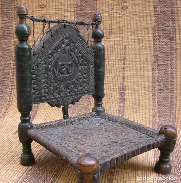 ANTIGUA SILLA AFGANISTAN (Antigüedades - Muebles Antiguos - Sillas Antiguas)