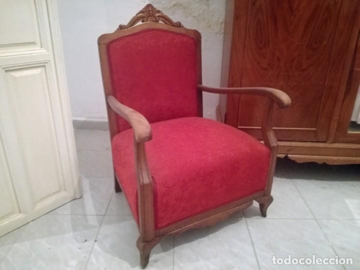 Antigüedades: Dos Butacas de dormitorio antiguas. - Foto 2 - 163978330
