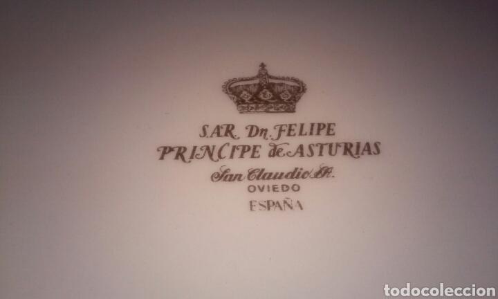 Antigüedades: PLATO GRANDE S.A.R. DON FELIPE PRINCIPE DE ASTURIAS (SAN CLAUDIO - OVIEDO) - Foto 5 - 182423198