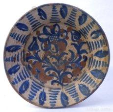 Antigüedades: FUENTE EN CERÁMICA DE FAJALAUZA GRANADA SIGLO XIX -LAÑADA. Lote 182423980