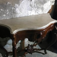 Antigüedades: CONSOLA DE CAOBA ISABELINA . Lote 182424967