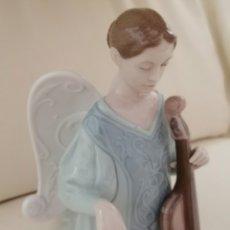 Antigüedades: ANGEL CON VIOLONCHELO LLADRÓ.. Lote 182425687