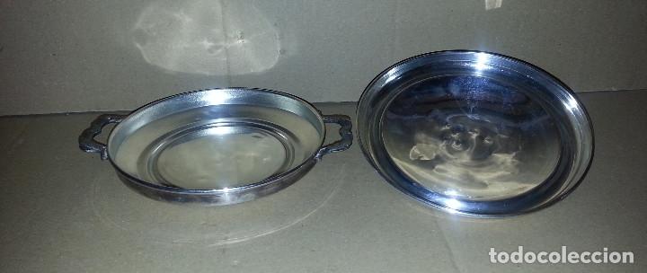 Antigüedades: SALSERA METALICA CON TAPA .....16 CM DE DIAMETRO.. - Foto 4 - 182432622