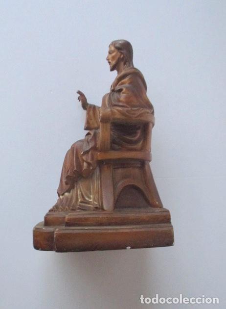 Antigüedades: SAGRADO CORAZON DE JESUS ENTRONIZADO - Foto 3 - 182451907