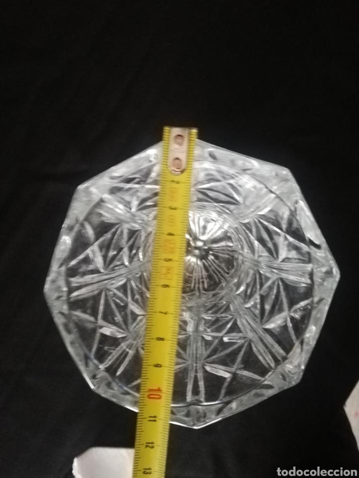 Antigüedades: Bonito jarron florero en cristal tallado Murano Italia diseño geometrico transparente - Foto 6 - 182469322