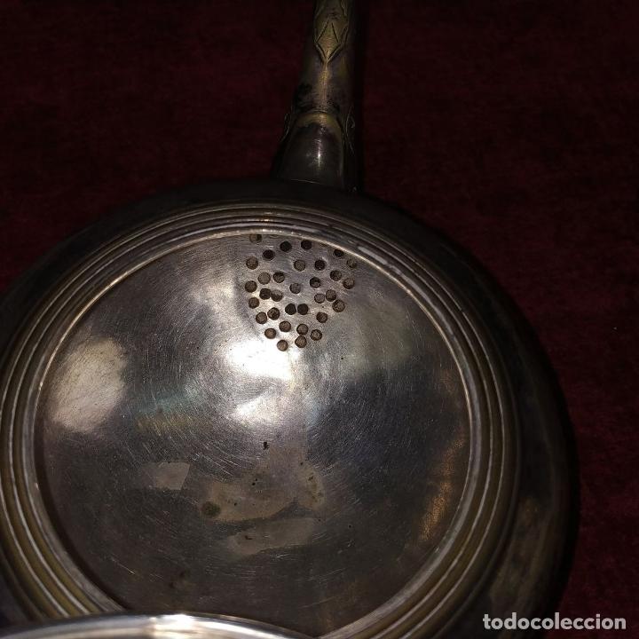 Antigüedades: TETERA ESTILO LOUIS XV.. METAL CHAPADO EN PLATA. MARCAS DE CHARPENTIER. FRANCIA. SIGLO XIX - Foto 14 - 182489540