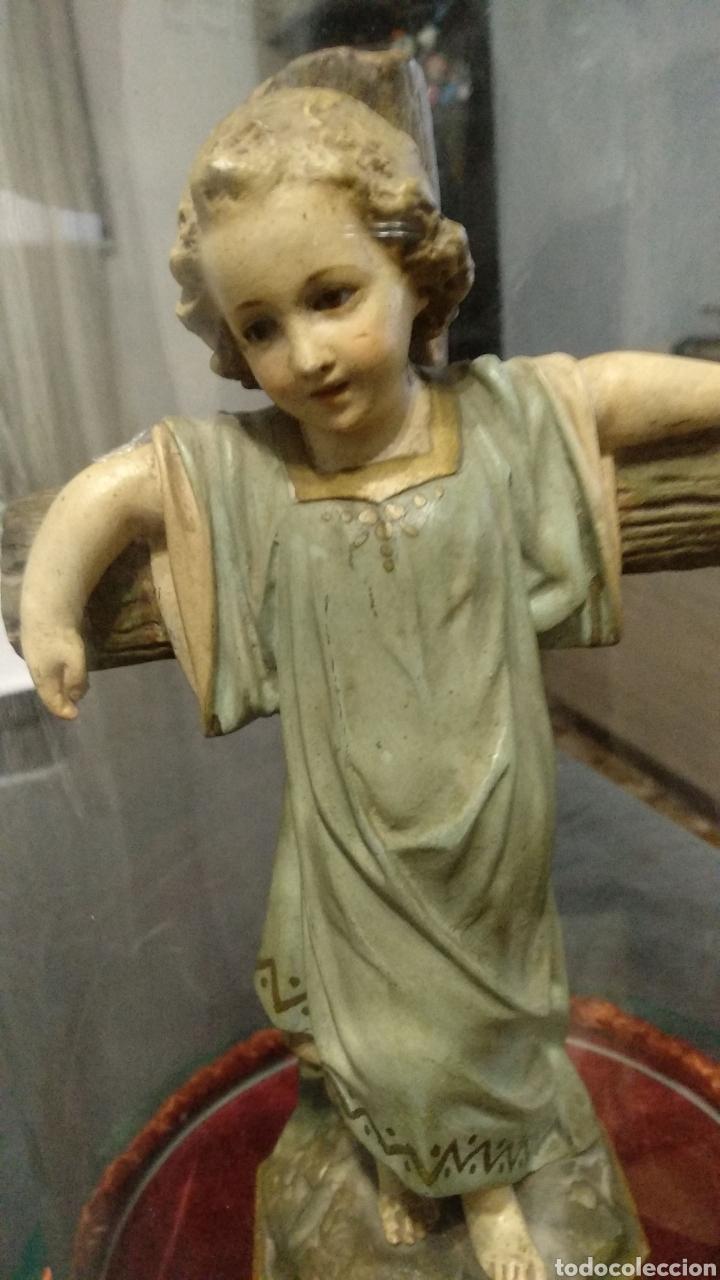 Antigüedades: Fanal con escultura niño Jesús Olot rarísima - Foto 2 - 182494313