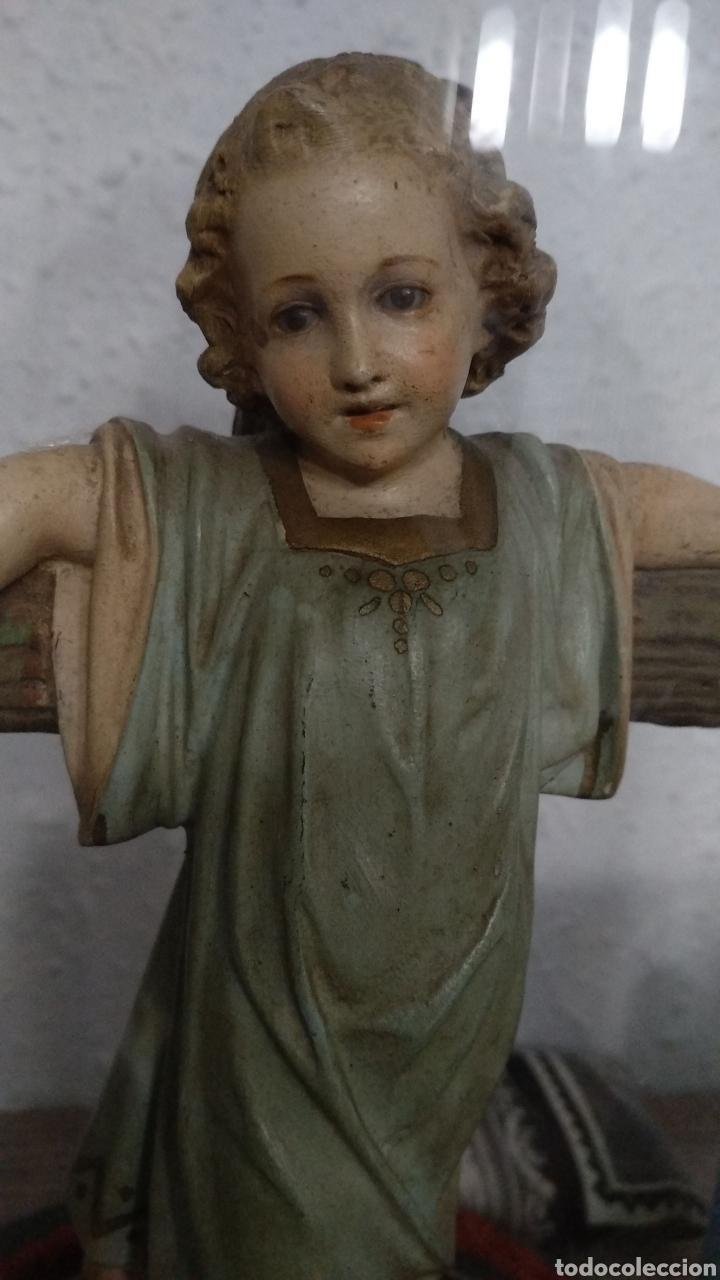 Antigüedades: Fanal con escultura niño Jesús Olot rarísima - Foto 4 - 182494313