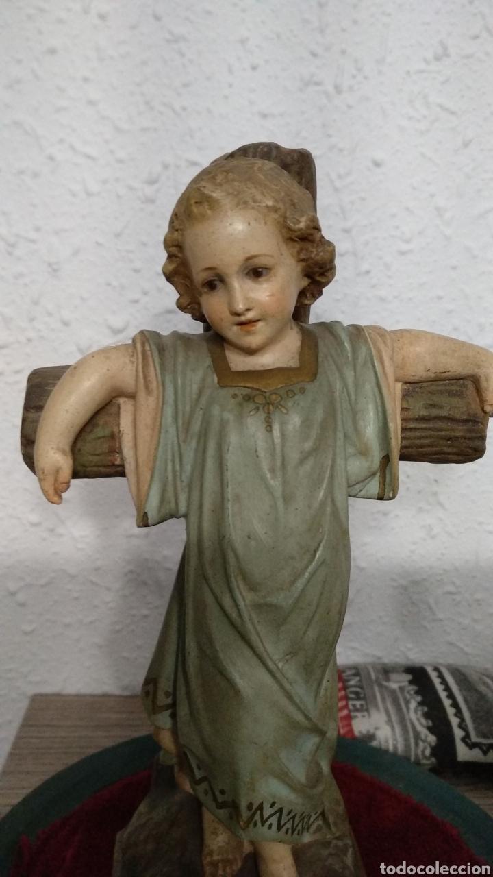 Antigüedades: Fanal con escultura niño Jesús Olot rarísima - Foto 5 - 182494313