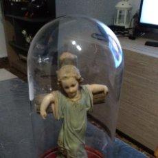 Antigüedades: FANAL CON ESCULTURA NIÑO JESÚS OLOT RARÍSIMA. Lote 182494313