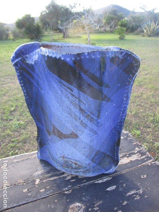 Antigüedades: FLORERO O JARRÓN de ceràmica esmaltado - Foto 4 - 182498916