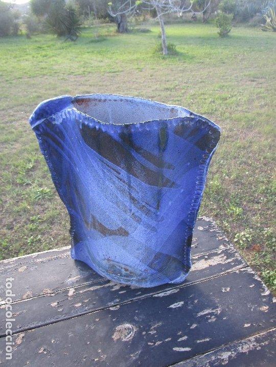 Antigüedades: FLORERO O JARRÓN de ceràmica esmaltado - Foto 2 - 182498916