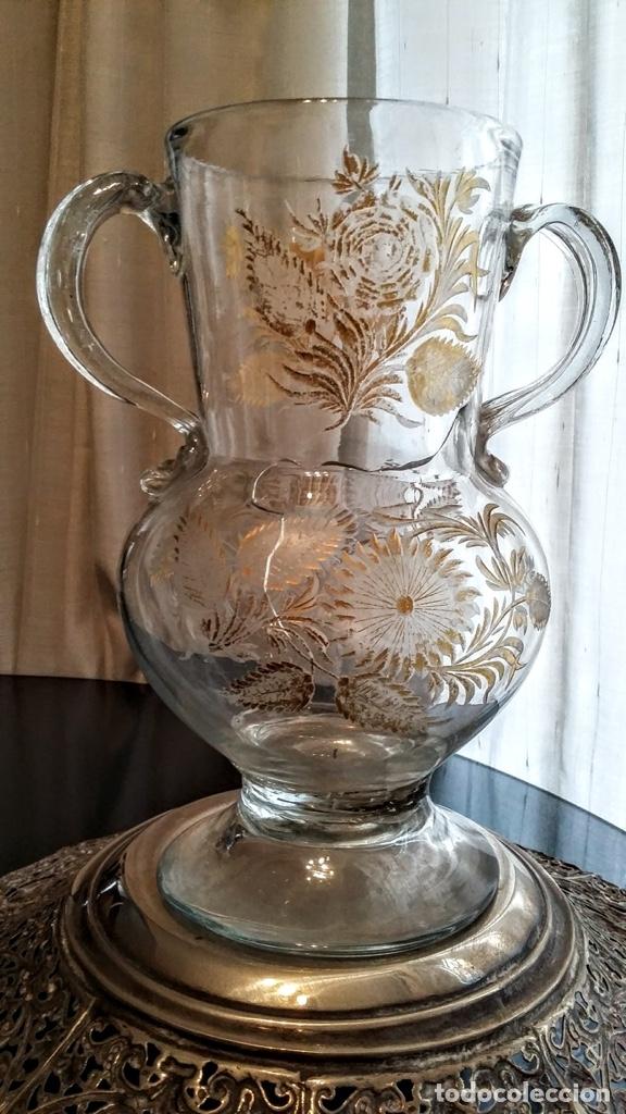 Antigüedades: Jarra del Siglo XVIII de cristal de la Real Fábrica de La Granja - Foto 2 - 182502391