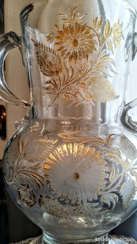 Antigüedades: Jarra del Siglo XVIII de cristal de la Real Fábrica de La Granja - Foto 3 - 182502391