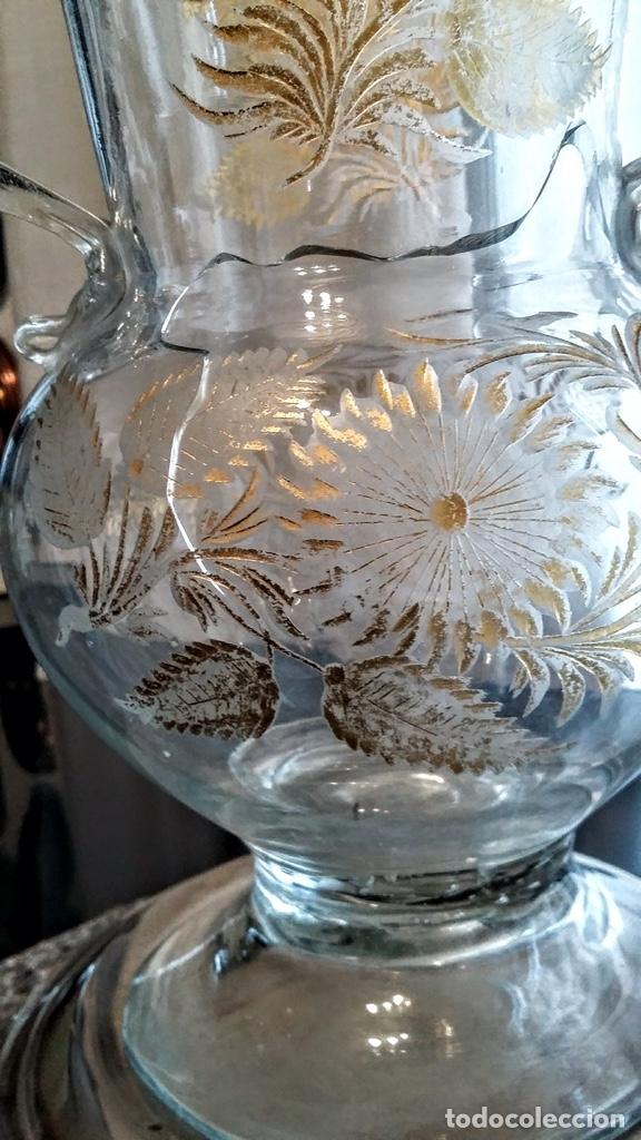 Antigüedades: Jarra del Siglo XVIII de cristal de la Real Fábrica de La Granja - Foto 6 - 182502391