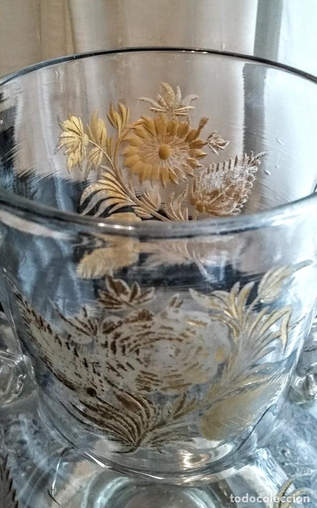 Antigüedades: Jarra del Siglo XVIII de cristal de la Real Fábrica de La Granja - Foto 7 - 182502391