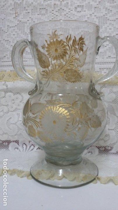 Antigüedades: Jarra del Siglo XVIII de cristal de la Real Fábrica de La Granja - Foto 12 - 182502391