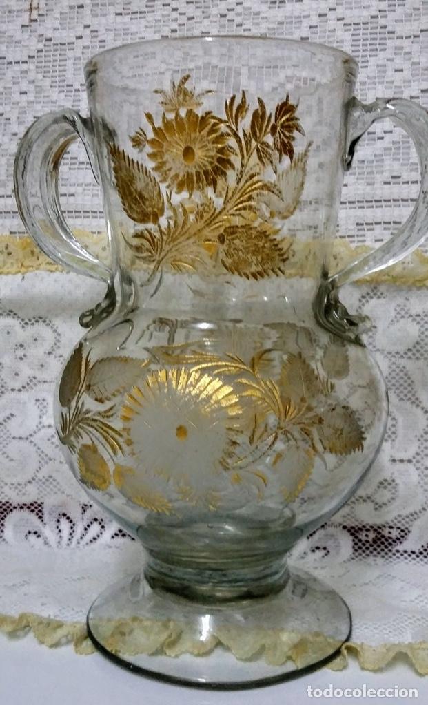 Antigüedades: Jarra del Siglo XVIII de cristal de la Real Fábrica de La Granja - Foto 13 - 182502391