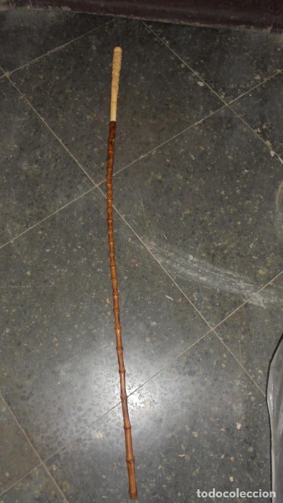 Antigüedades: CHINA - ANTIGUO BASTON PUÑO DE MARFIL TALLADO FINAL S. XIX PRINCIPUIO XX . CAÑA DE BAMBU - Foto 9 - 182505383