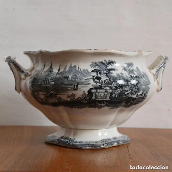 ANTIGUA GRAN SOPERA REDONDA SELLADA SARGADELOS * SIGLO XIX (Antigüedades - Porcelanas y Cerámicas - Sargadelos)