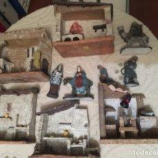 Antigüedades: LOTE DE PIEZAS DE BELEN , ALTA ARTESANIA. Lote 182515443