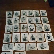 Antigüedades: LOTE DE CROMOS DE BOXEADORES DE LA ANTIGUA FÁBRICA DE CIGARRILLOS ANTILLANA. Lote 182517400