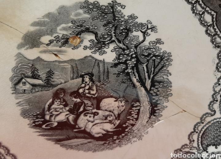 Antigüedades: GRAN FUENTE LLANA DE CARTAGENA. SIGLO XIX. - Foto 2 - 182520380