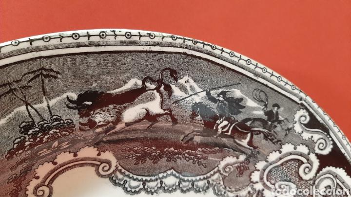 Antigüedades: GRAN FUENTE LLANA DE CARTAGENA. SIGLO XIX. - Foto 3 - 182520380