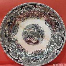 Antigüedades: GRAN FUENTE LLANA DE CARTAGENA. SIGLO XIX.. Lote 182520380