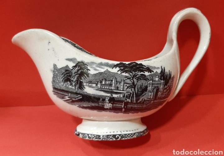 RARA SALSERA. SAN JUAN DE AZNALFARACHE. SIGLO XIX. (Antigüedades - Porcelanas y Cerámicas - San Juan de Aznalfarache)