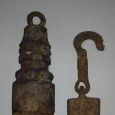 Antigüedades: PESA CONTRAPESO. Lote 182532797