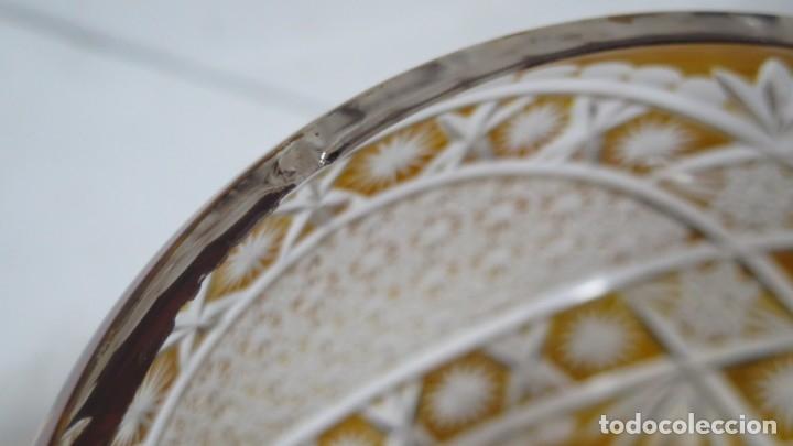 Antigüedades: PRECIOSA PONCHER CON JUEGO DE 6 COPAS. CRISTAL TALLADO. BOHEMIA - Foto 11 - 182539210