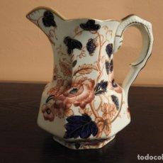 Antigüedades: PORCELANA INGLESA WINDERMERE ENOCH WEDGWOOD. JARRA PERFILADA EN ORO.. Lote 182539362