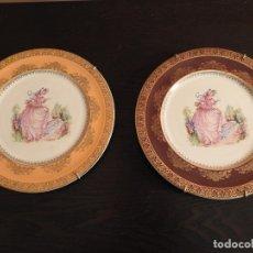 Antigüedades: EXQUISITOS PLATOS PINKIE DE PORCELANA SAN CLAUDIO DE COLECCIÓN. Lote 182544061