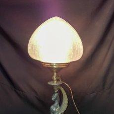 Antigüedades: LAMPARA DE SOBREMESA C.1900. Lote 182549256